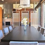 Fuse lighting, dining room, barcelona chairs