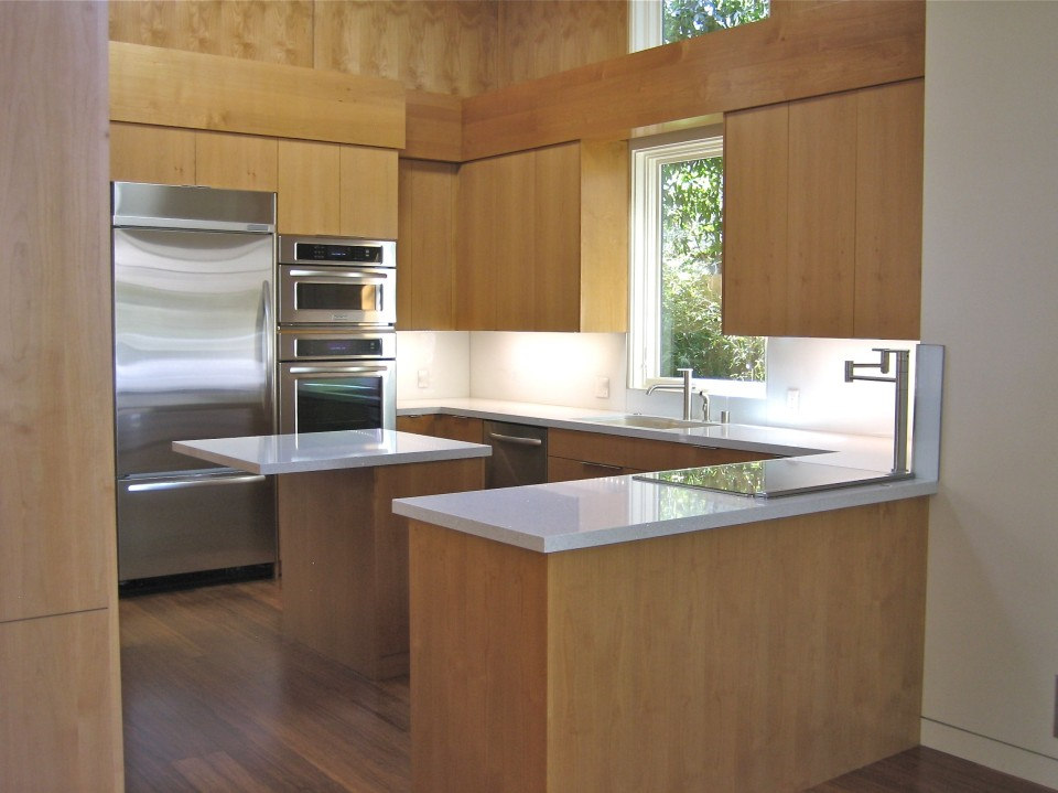 Rhonda Geller AIA designed loft house kitchen, finishes by Kathryn Waltzer