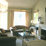 transitional living room, tone on tone hue